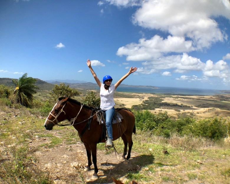 Horseback riding at Hacienda El Cenizaro