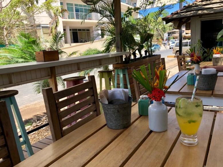 Shrimp Hole restaurant in Tamarindo beach