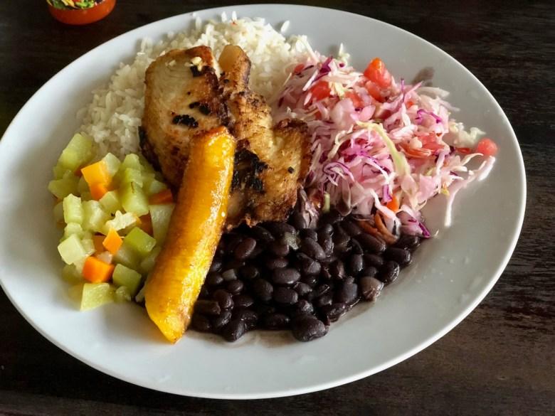 Casado, traditional Costa Rican dish