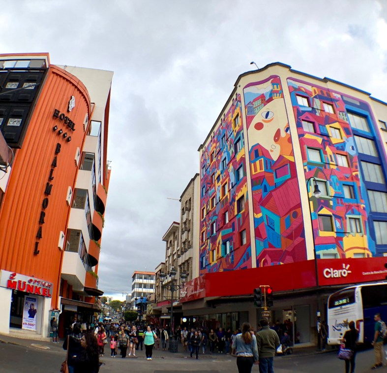 pedestrian mall in San Jose Costa Rica