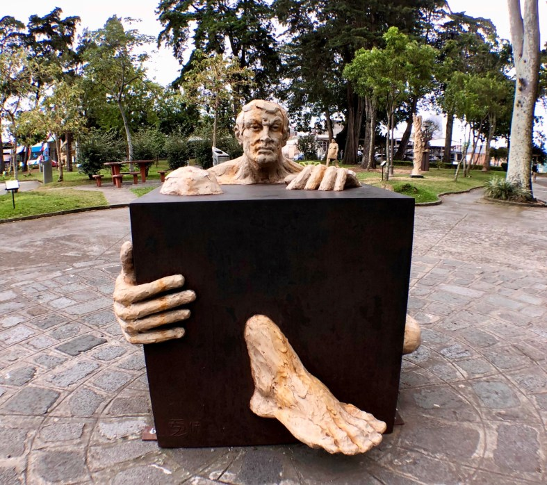 Sculpture at the National Park in San José