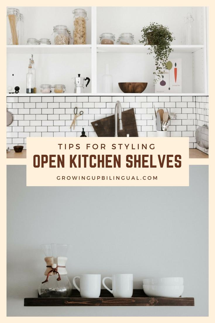 Tips for Styling Open Kitchen Shelves