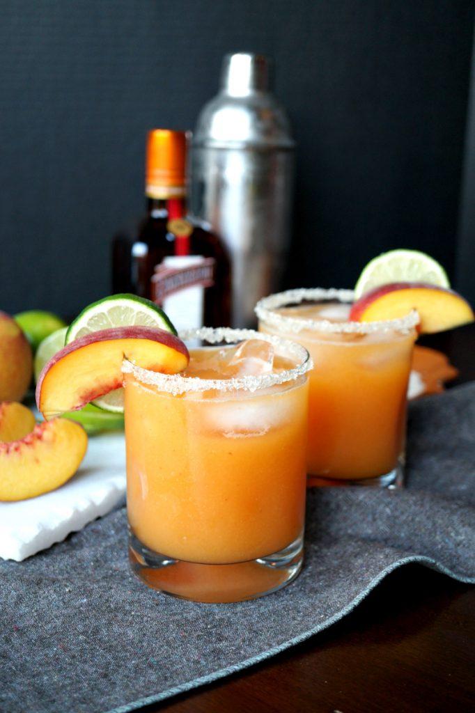 Peach Lime Margaritas
