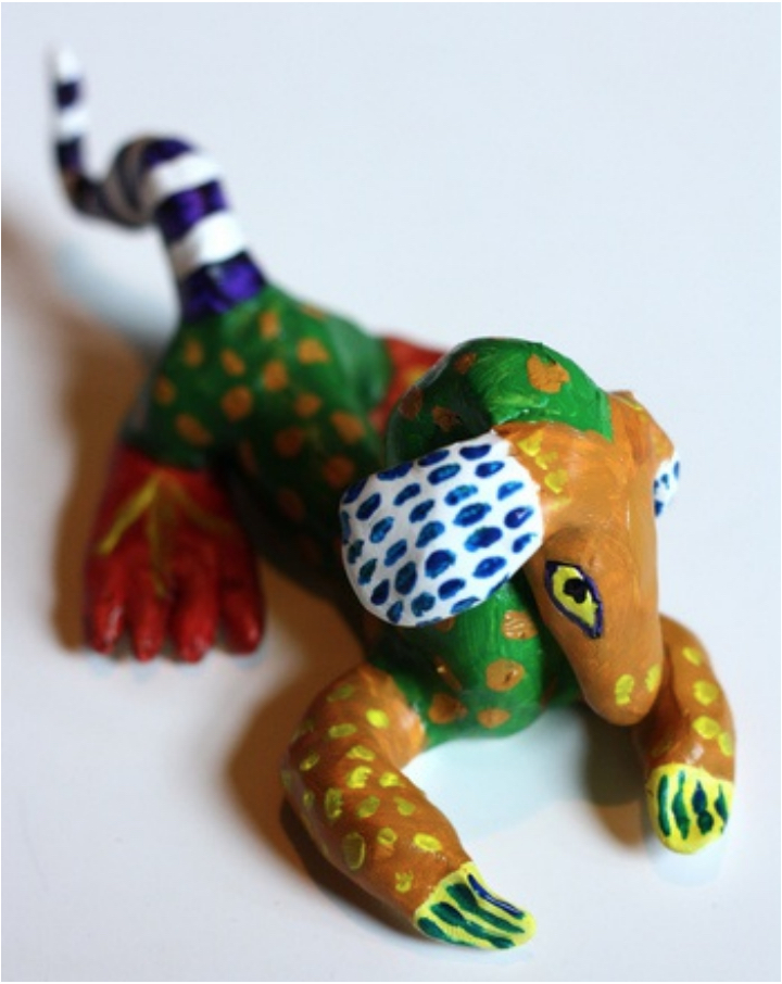 Traditional Mexican alebrije craft