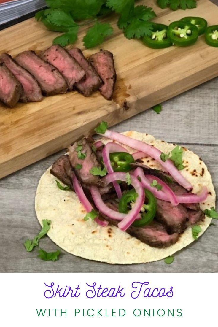 Skirt Steak Tacos With Pickled Onions