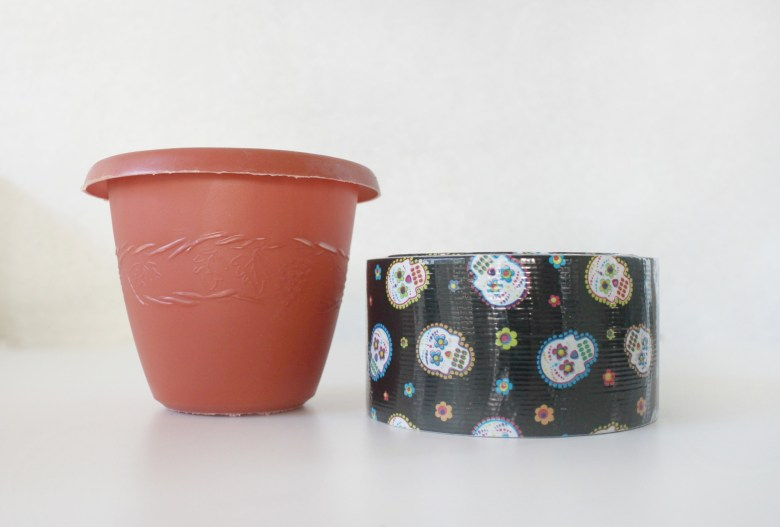 Sugar Skull Pots and Flowers Craft for Kids