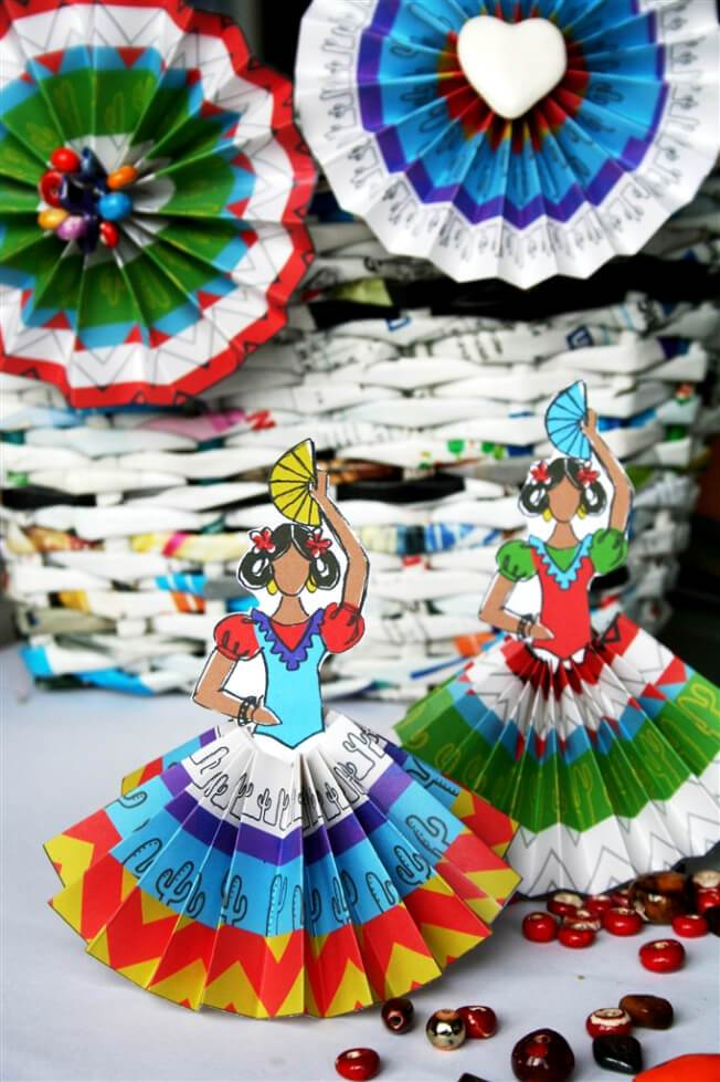 fiesta-senoritas craft for Cinco de Mayo