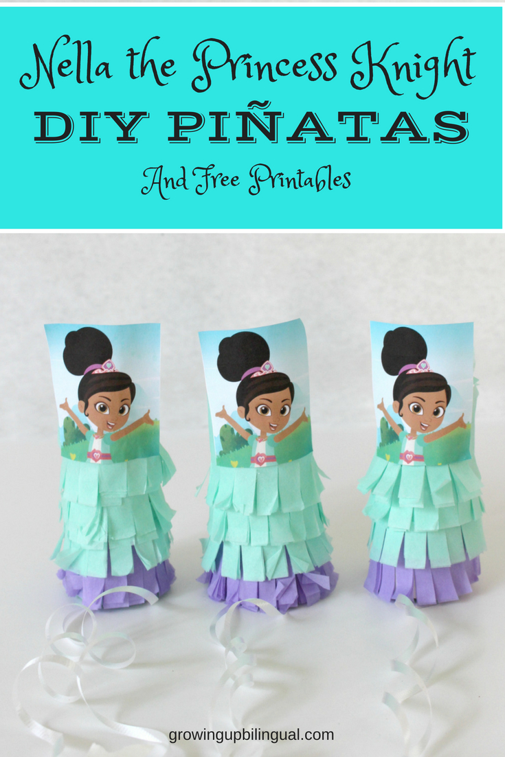 Nella the Princess Knight DIY Mini Piñatas