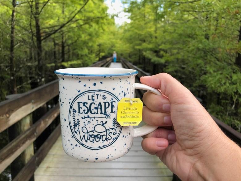 Bigelow tea outdoors