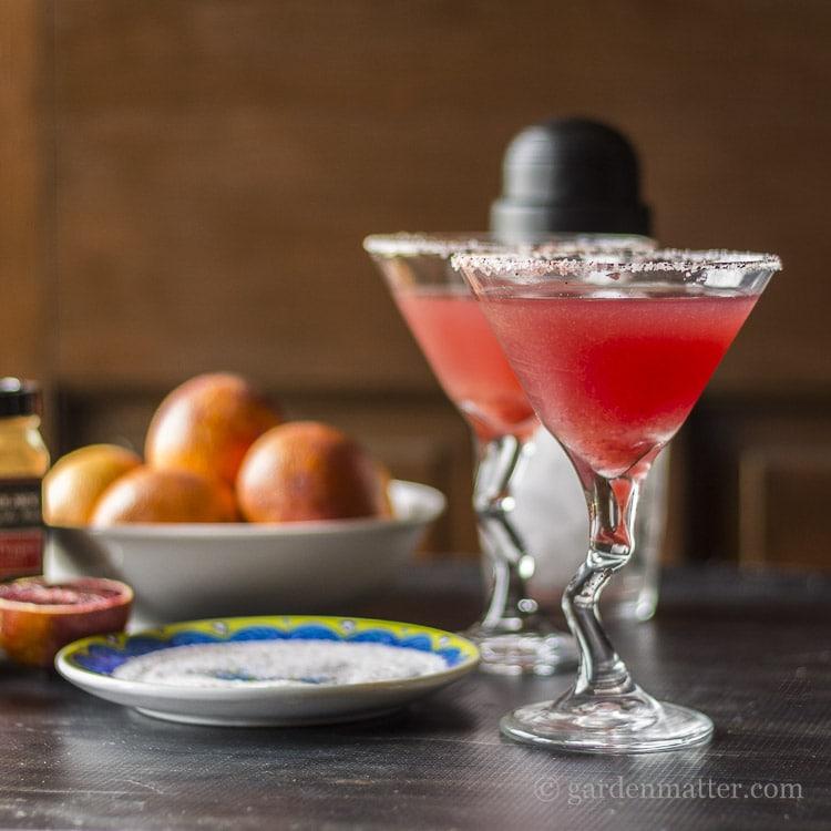 Blood Orange Margaritas plus 10 Fantastic Cocktails for Your Day of the Dead Celebration