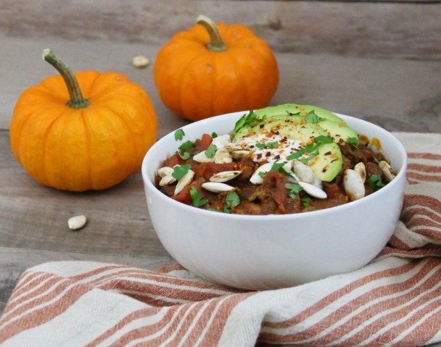 This slow cooker chipotle beef pumpkin chili takes chili to a whole new level with its subtle sweetness and smoky heat for a fall dish that is sure to become this season's favorite slow cooker chili recipe.