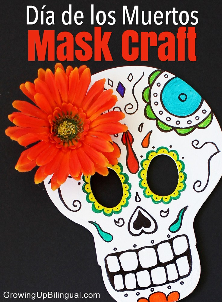 Day of the Dead Skull Mask plus 15 easy Day of the Dead Crafts for kids. These make the perfect art project for kids to learn about Dia de los Muertos.
