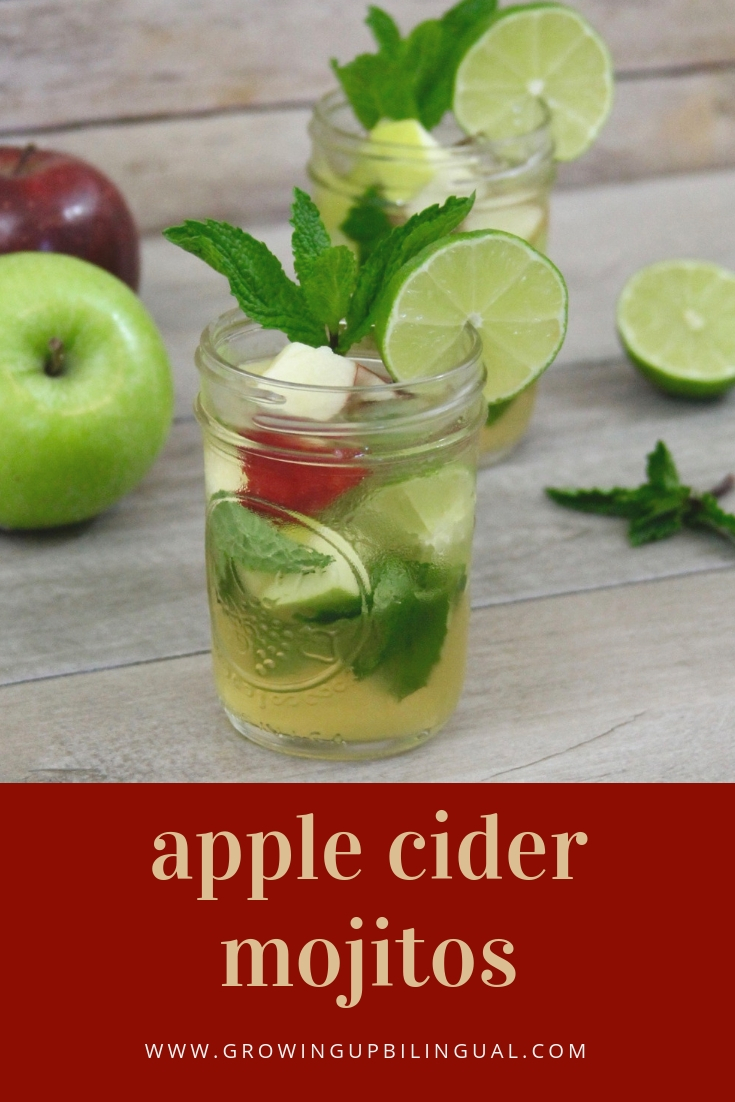 Apple cider mojito, the perfect cocktail to celebrate the start of fall!