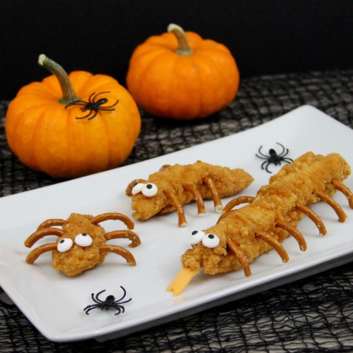 Creepy Crawlies Made with Crispy Chicken Strips