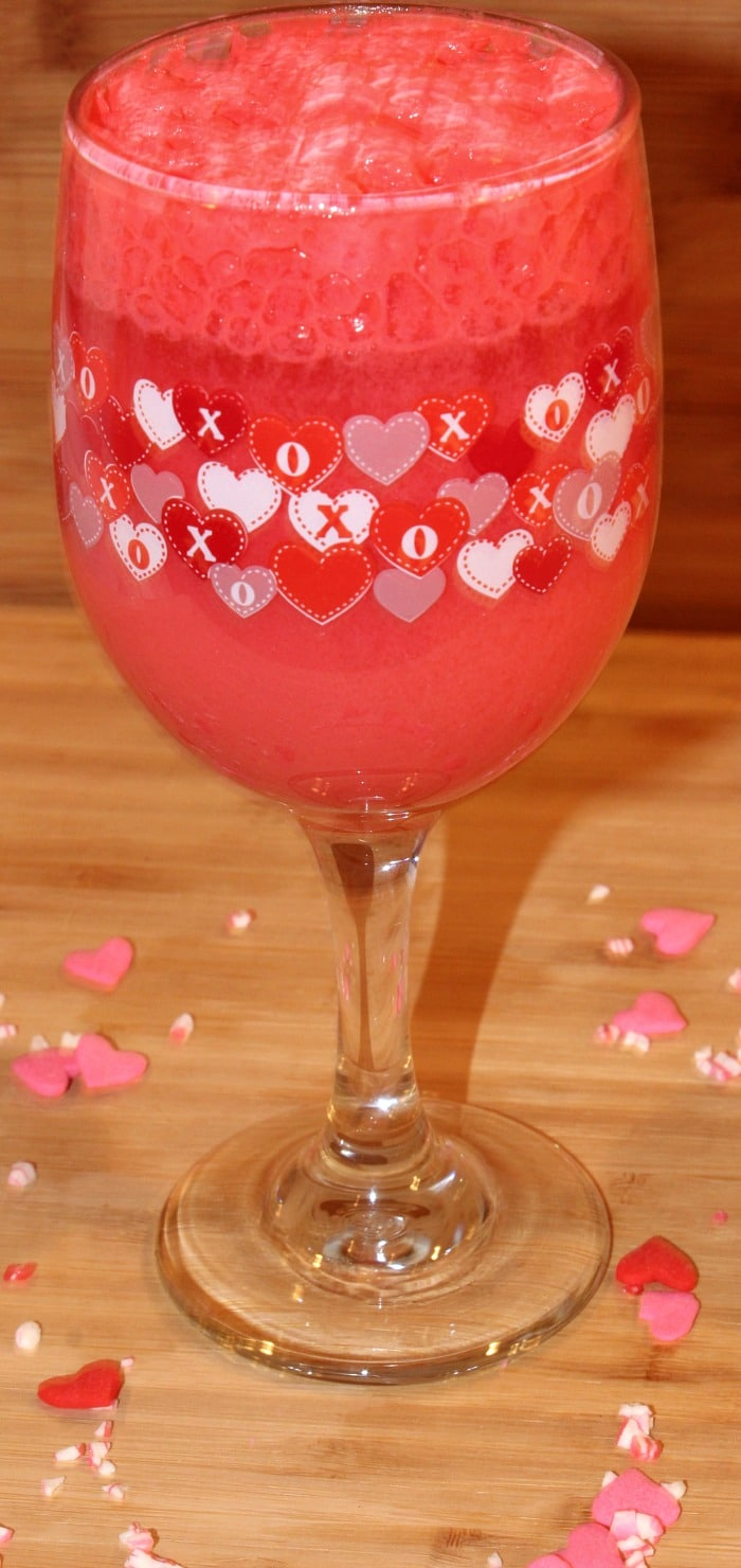 Strawberry Creamsicle Valentine's Cocktail