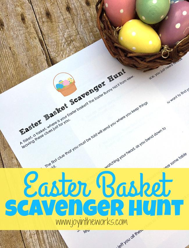 Easter Basket Scavenger Hunt and lots of fun Easter basket ideas for boys