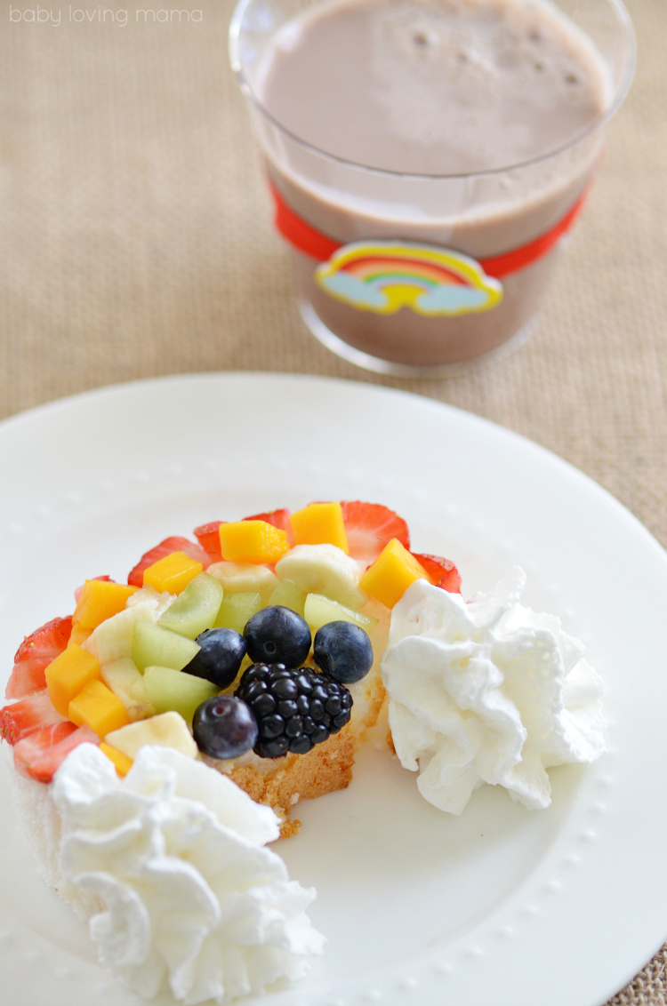 Fruit Rainbow and more delicious St Patricks day desserts
