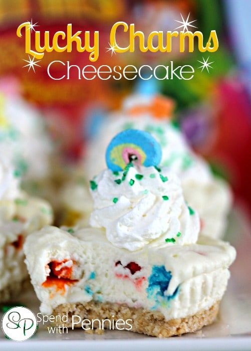Lucky Charms Cheesecake and other delicious St Patricks day desserts