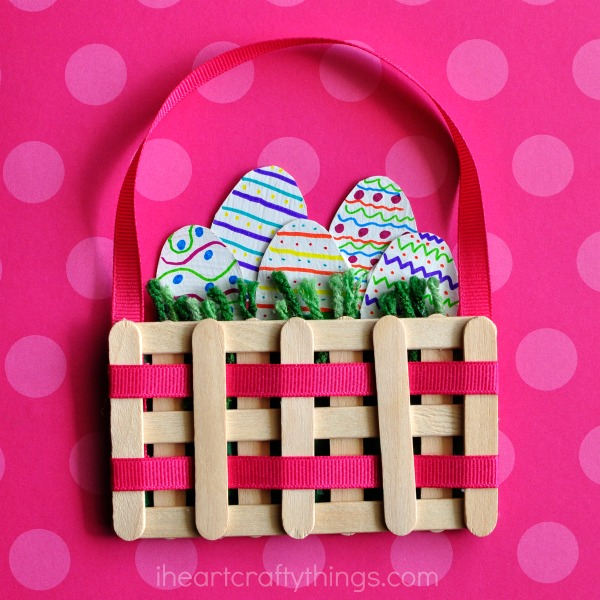 Mini Easter Basket Craft and other fun and easy Easter crafts for kids