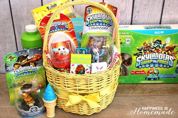 Skylanders Easter Basket and lots of fun Easter basket ideas for boys