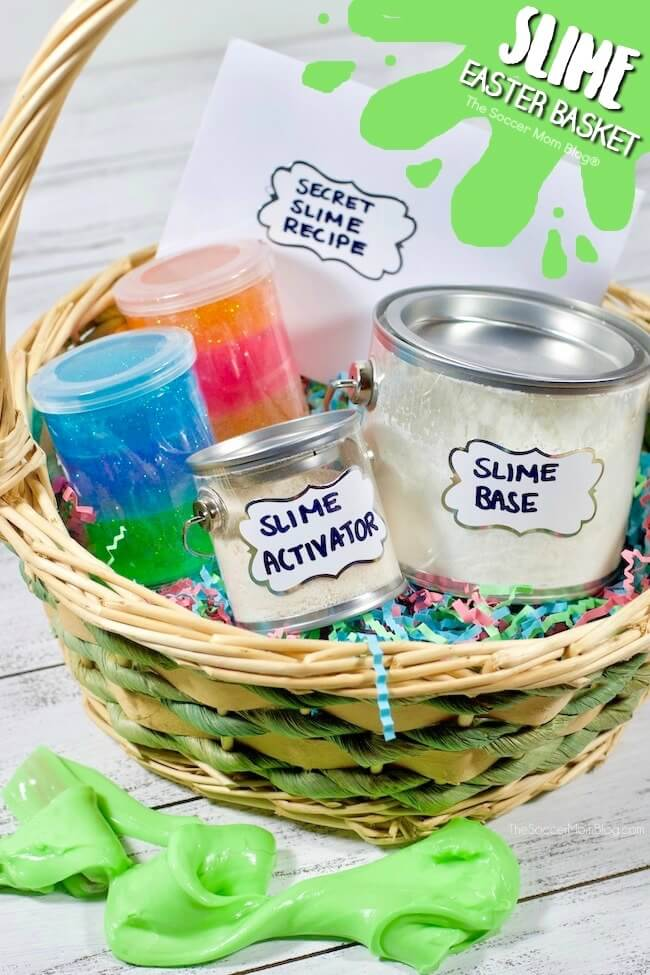 Slime Easter Basket and lots of fun Easter basket ideas for boys