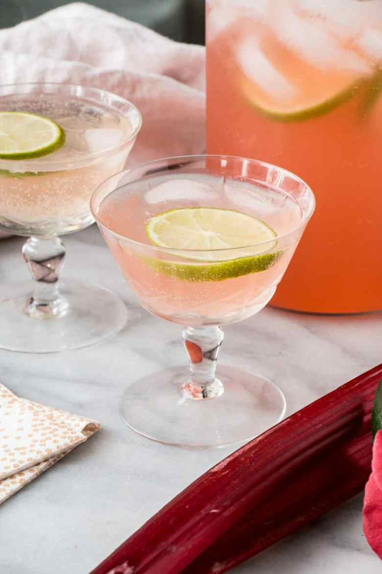 Sparkling Rhubarb Margarita and other favorite Easter cocktails