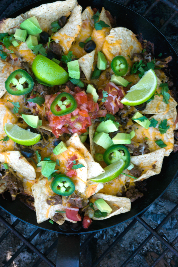 Beefy Campfire Nachos and more simple and delicious camping recipes to make on the grill