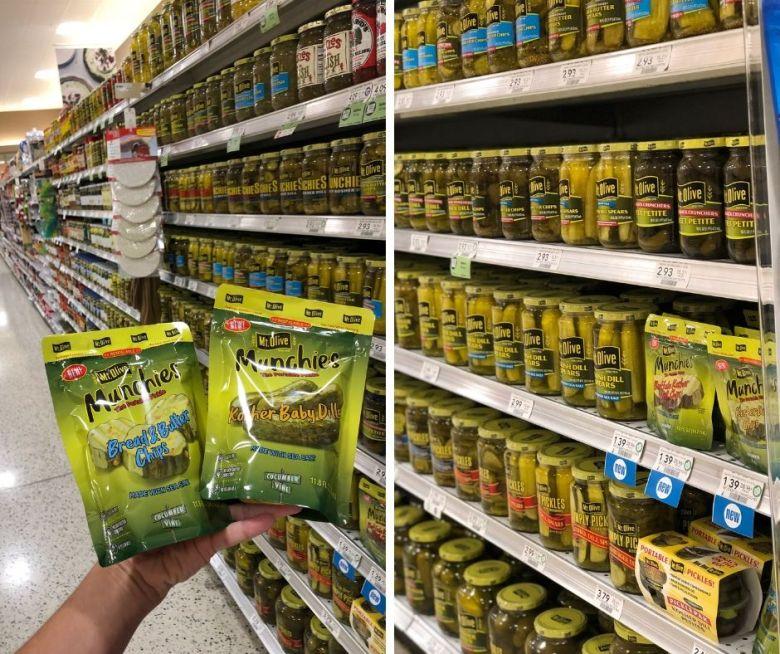 Mt Olive pickle pouches