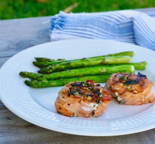 Grilled Chipotle Salmon Roulade