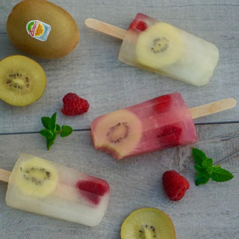 Raspberry Lemonade and Kiwi Popsicles
