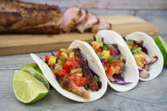 Easy Grilled Pork Loin Tacos With Grilled Pineapple Salsa