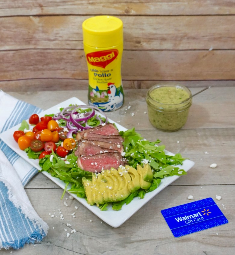Carne Asada Grilled Steak Salad with Grilled Tomatillo Dressing