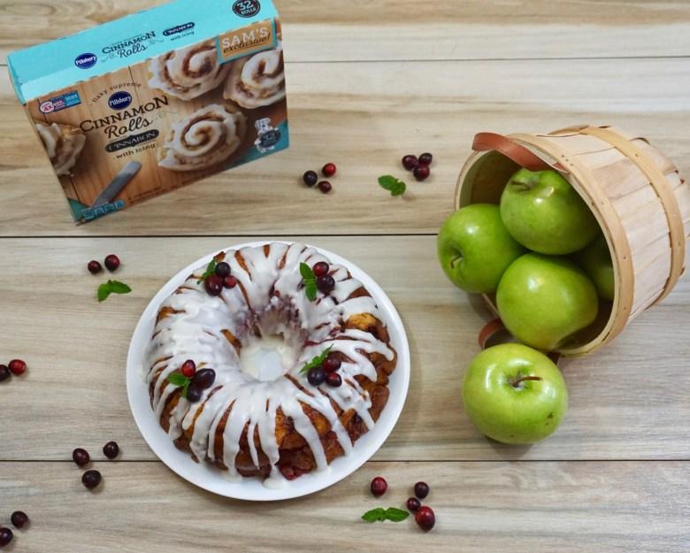 Apple Cranberry Monkey Bread Recipe