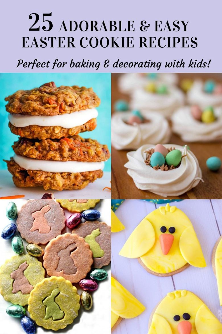 25 Easy Easter Cookie Recipes to make with kids