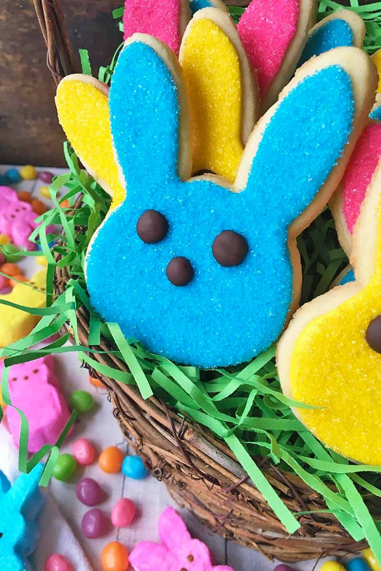 Cute and Colorful Easter Bunny Cookies
