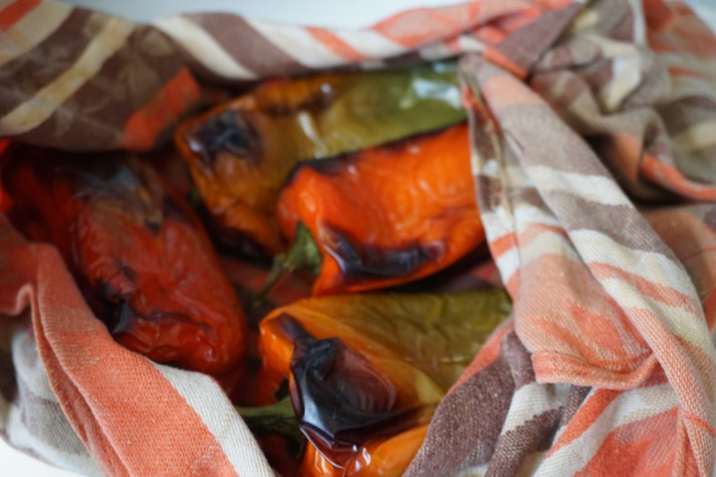 how to peel sweet peppers