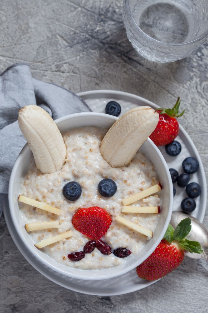Easter breakfast Bunny oatmeal
