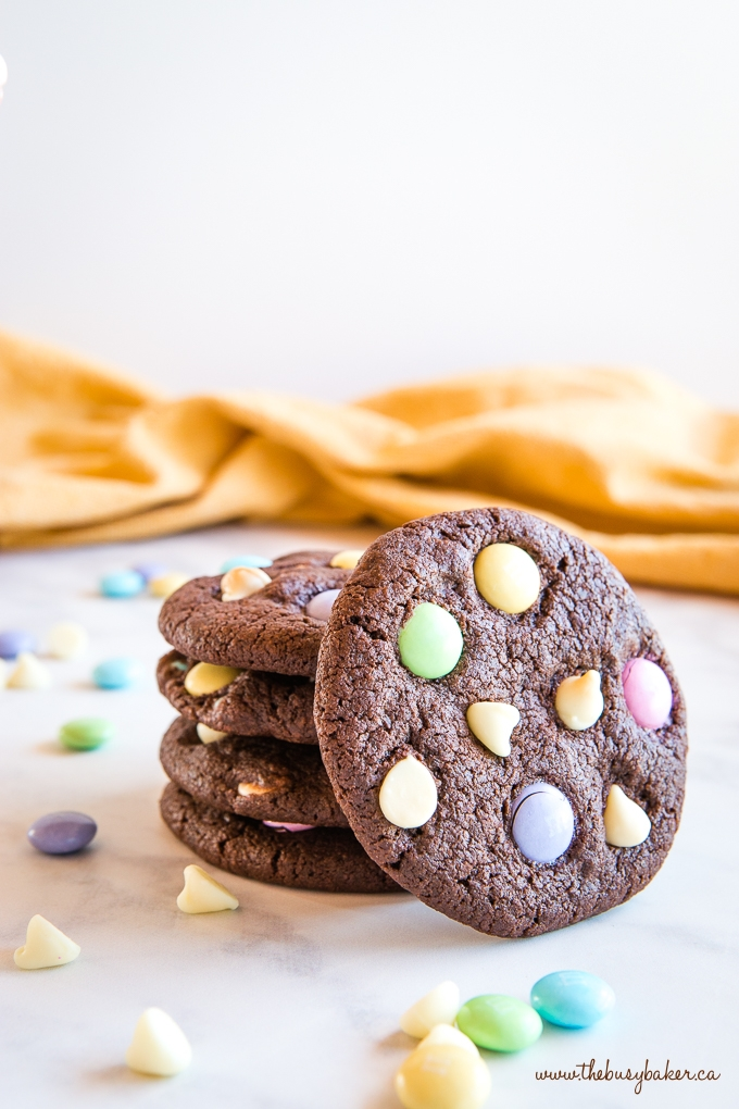 Easter double chocolate cookies