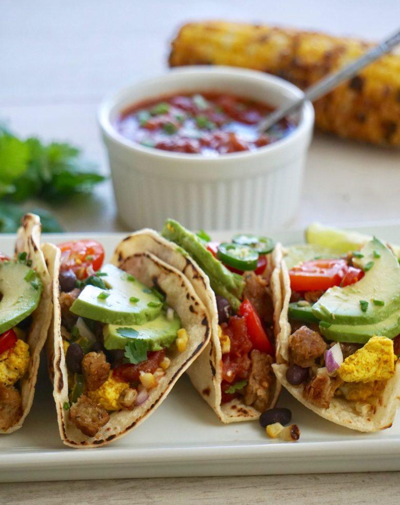 Easy tofu scramble vegan tacos