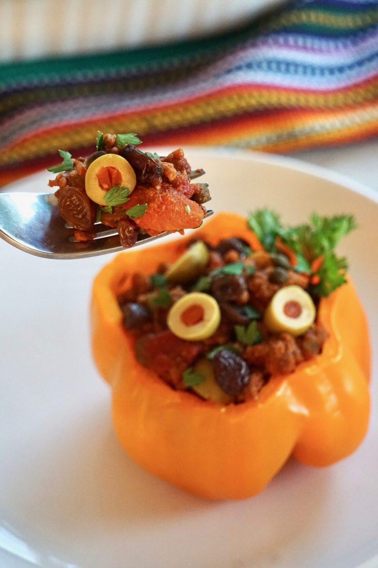 picadillo stuffed bell peppers