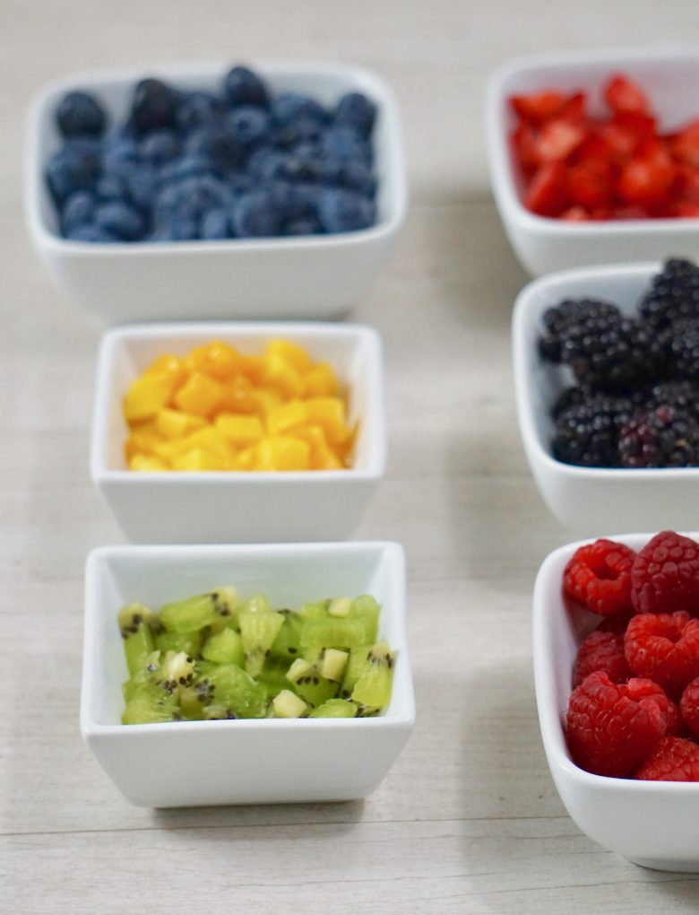 fruit for fruit pizza cookies