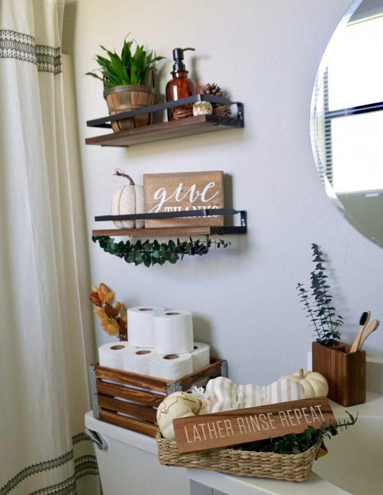 Fall decor ideas for small bathrooms