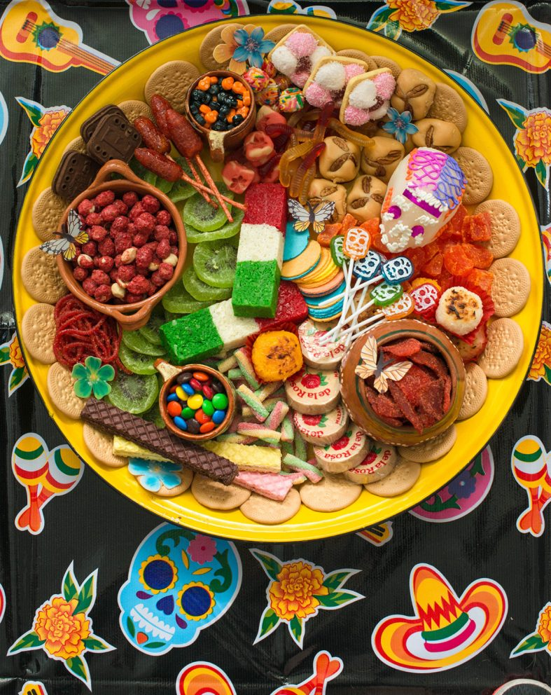 Day of the Dead traditional Mexican candy tray and other Day of the Dead recipes for kids
