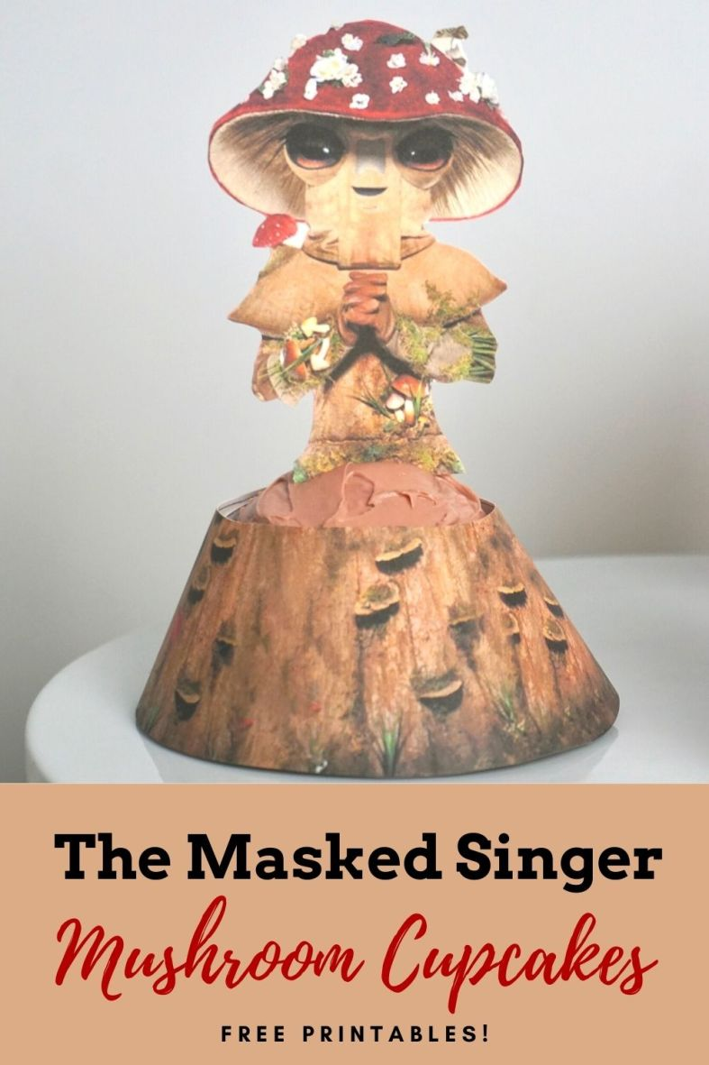 The Masked Singer Mushroom Cupcakes and free printables
