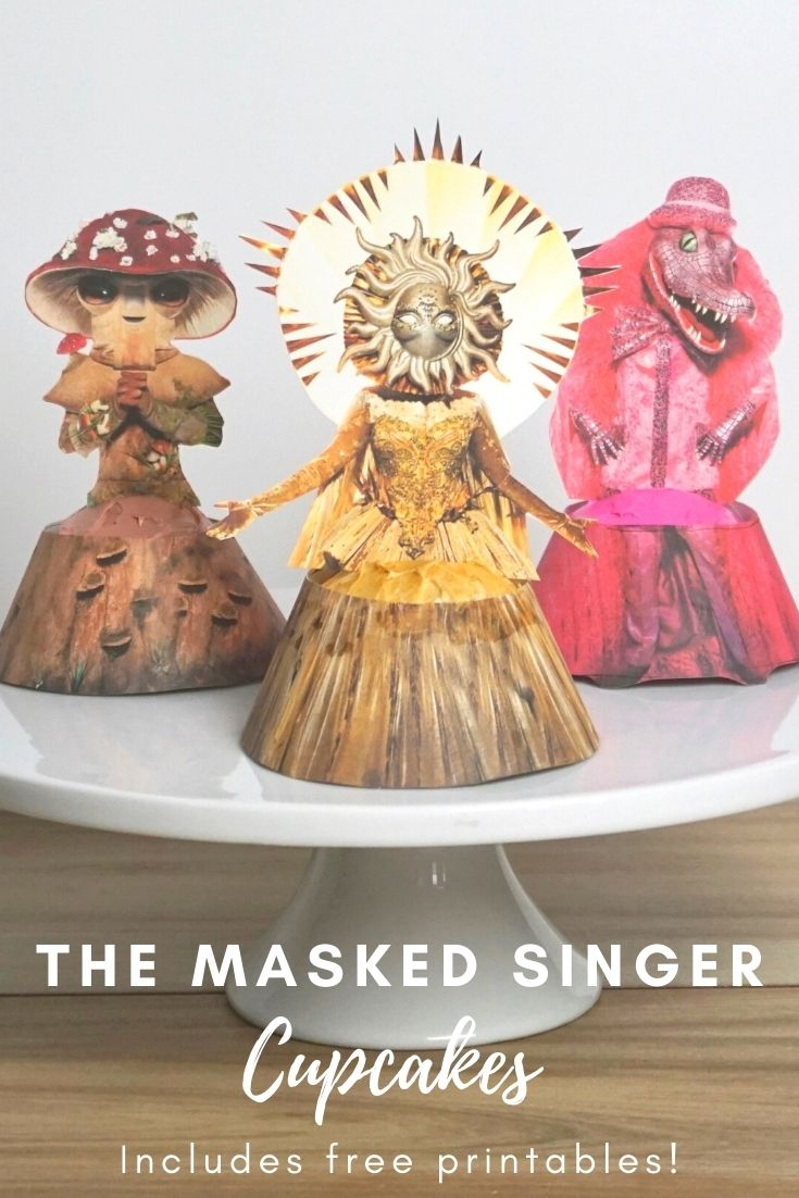 The Masked Singer Season 4 free printables cupcakes and party ideas