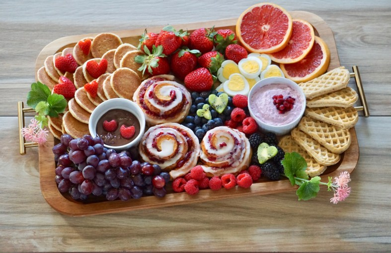 Valentine's Breakfast Board
