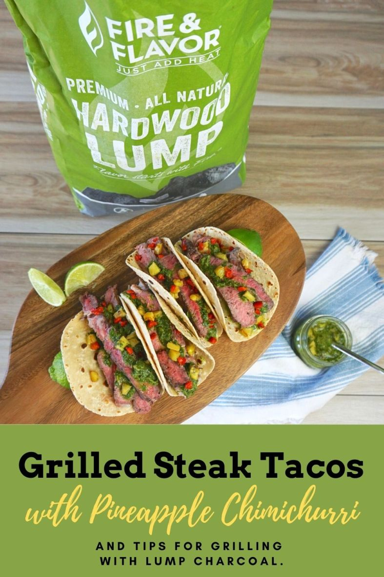 Grilled Steak Tacos With Pineapple Chimichurri