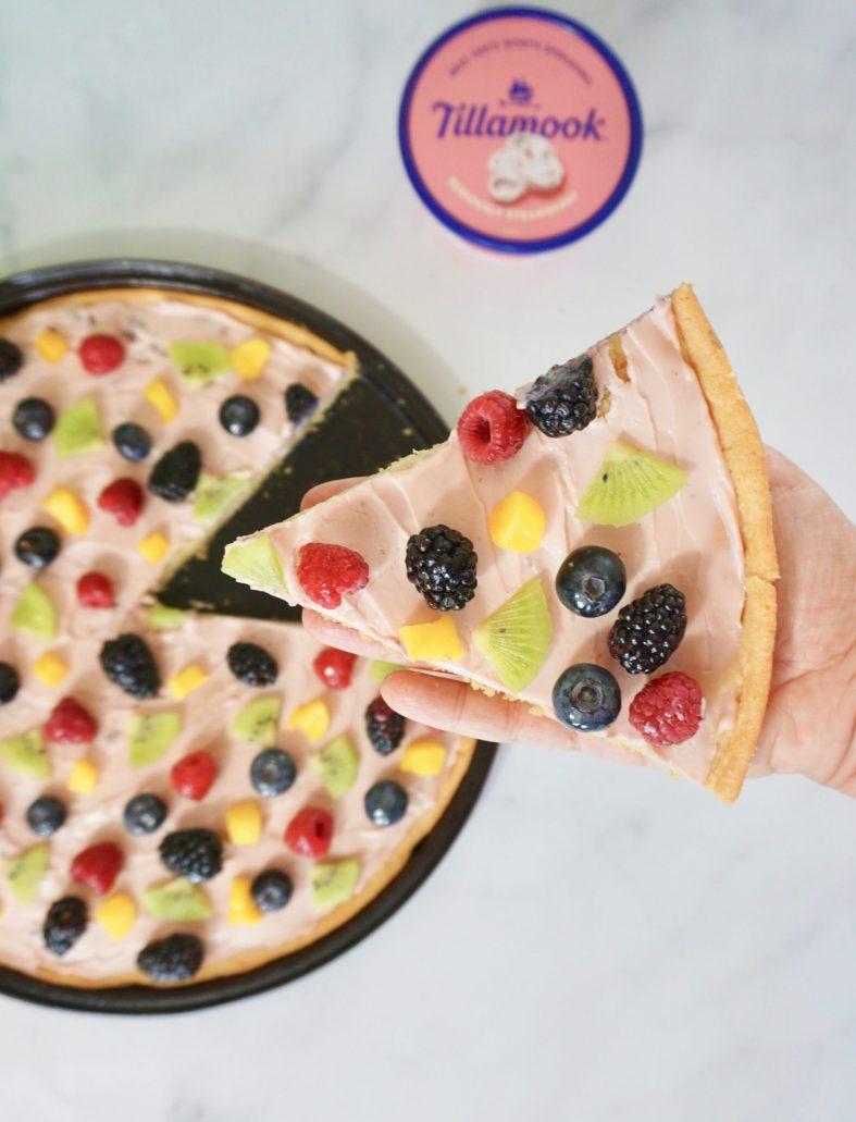 Easy fruit pizza summer dessert