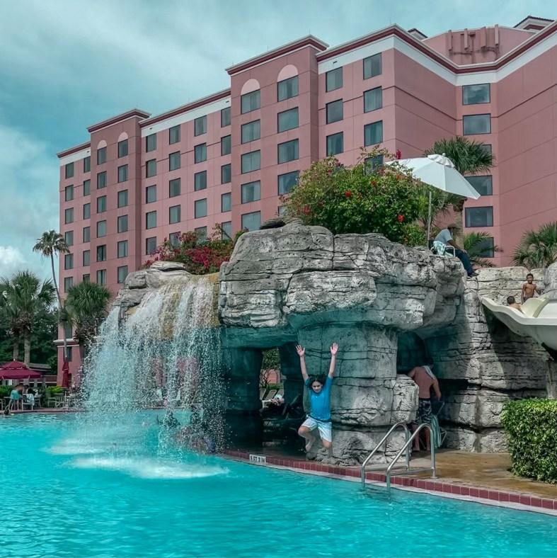 Caribe Royale Orlando waterfall pool