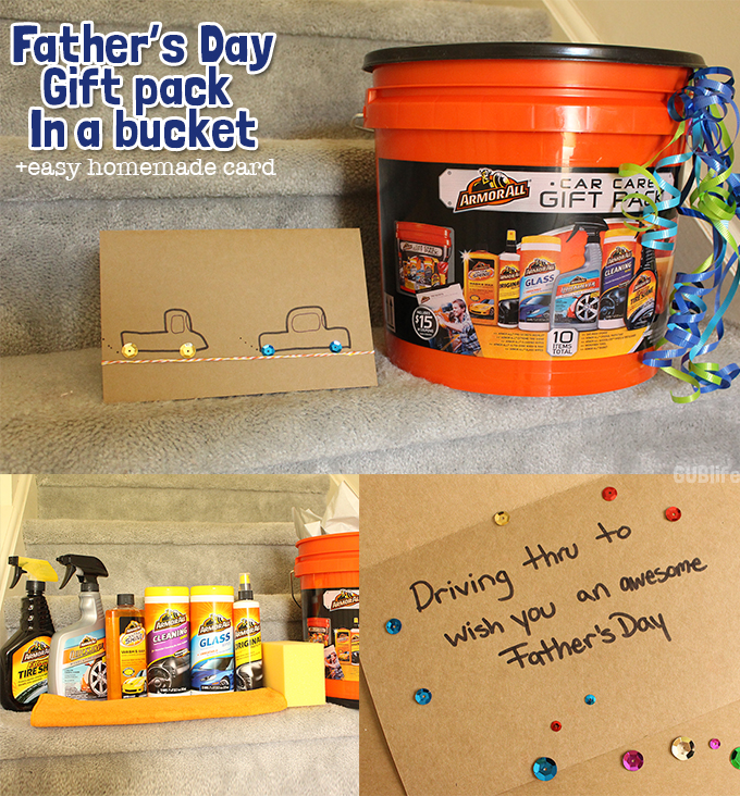 fathers day gift pack   bucket easy homemade card gublife